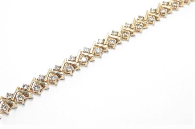 Heavy 3 Ct Chocolate Diamond Gold Tennis Bracelet