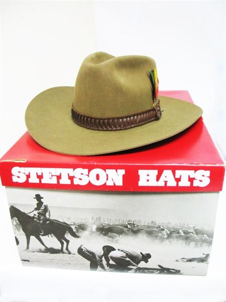 68e7f3cb0807a VINTAGE STETSON WESTERN COWBOY 4X BEAVER HAT SIZE 6 7 8 BRIM 3 1 2