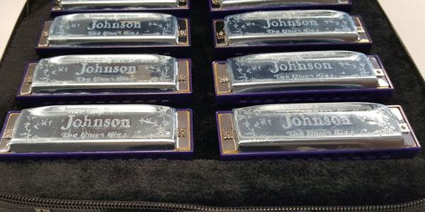 Lot Detail - JOHNSON BLUES KING HARMONICA SET ALL 12 KEYS