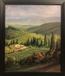 PEREZ ** TUSCAN HILLS ** ORIGINAL OIL ON CANVAS