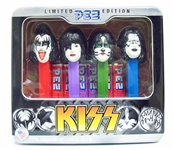 SET OF 4 LIMITED EDITION KISS PEZ DISPENSERS