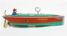 COLLECTIBLE WIND UP TIN TOY BOAT