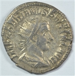 FULLY STRUCK NEAR MINT ROMAN SILVER COIN OF GORDIAN III, 238-244 AD WITH EMPEROR ON BOTH SIDES
