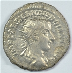 LUSTROUS NEAR MINT ROMAN SILVER COIN OF GORDIAN III, 238-244 AD. GREAT REVERSE