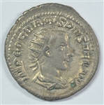 HANDSOME ORIGINAL ROMAN SILVER COIN OF GORDIAN III, 238-244 AD WITH VICTORY ON REVERSE