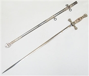 THE M.C. LILLEY & CO. MASONIC SWORD WITH SHEATH