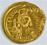 FABULOUS BRILLIANT UNCIRCULATED BYZANTINE GOLD SOLIDUS OF HERAKLIOS, 610-641