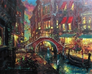 COLEMAN ** EVENING FALLS ** SIGNED CANVAS