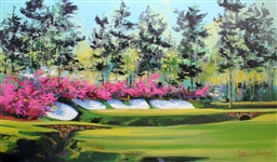 FARLEY ** SPRINGTIME IN AUGUSTA ** SIGNED CANVAS