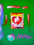 MAX ** HEART ** SIGNED MIXED MEDIA ORIGINAL