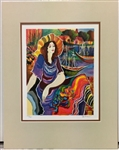 PATRICIA *LADY BY THE BAYSIDE* MATTED SERIGRAPH