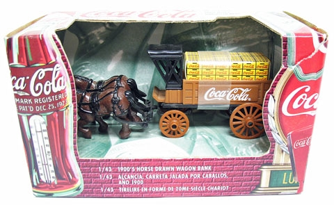 COCA-COLA HORSE DRAWN WAGON BANK