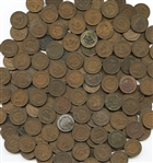BAG LOT OF 175 INDIAN HEAD CENTS