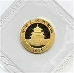 MINT STATE 2014 CHINESE 50 YUAN GOLD COIN