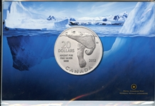 CANADIAN UNCIRCULATED $20 .999 PURE SILVER COMMEMORATIVE COIN