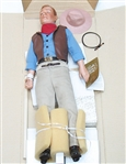 NEW FRANKLIN HEIRLOOM JOHN WAYNE DOLL IN ORIGINAL BOX