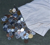 GIANT BAGFUL OF 25+ POUNDS OF FOREIGN COINS OF THE WORLD