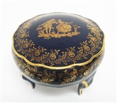 RARE LIMOGES FOOTED COVERED TRINKET BOX