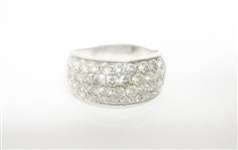 14K WG DIAMOND RING 4 C.T.W.