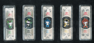 BEIJING 2008 OLYMPIC SILVER BAR SET