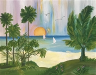 PALYN  *** A DAY IN THE TROPICS *** SIGNED ORIGINAL PAINTING