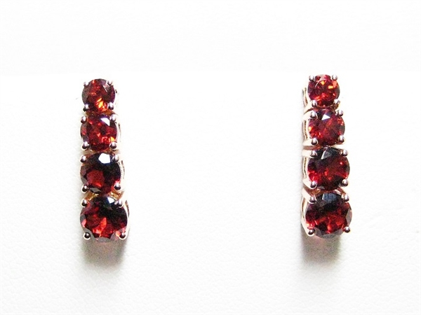 2.5 CT GARNET 14K YG EARRINGS