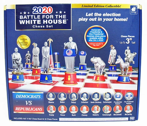 NEW LIMITED EDITION 2020 BATTLE FOR THE WHITE HOUSE CHESS SET