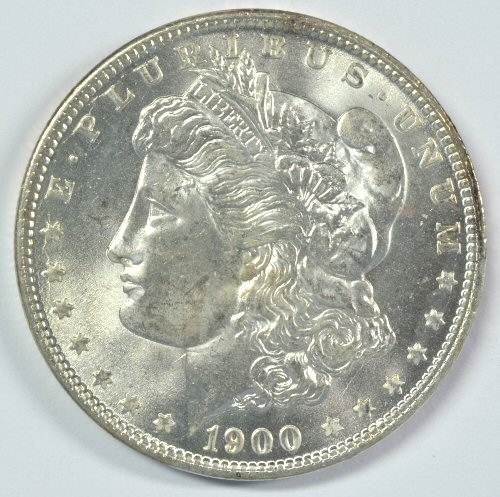 IMPRESSIVE GEM BU 1900-O/CC MORGAN SILVER DOLLAR. MS65