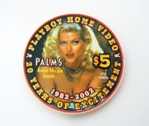 RARE ANNA NICOLE SMITH PLAYBOY CASINO CHIP
