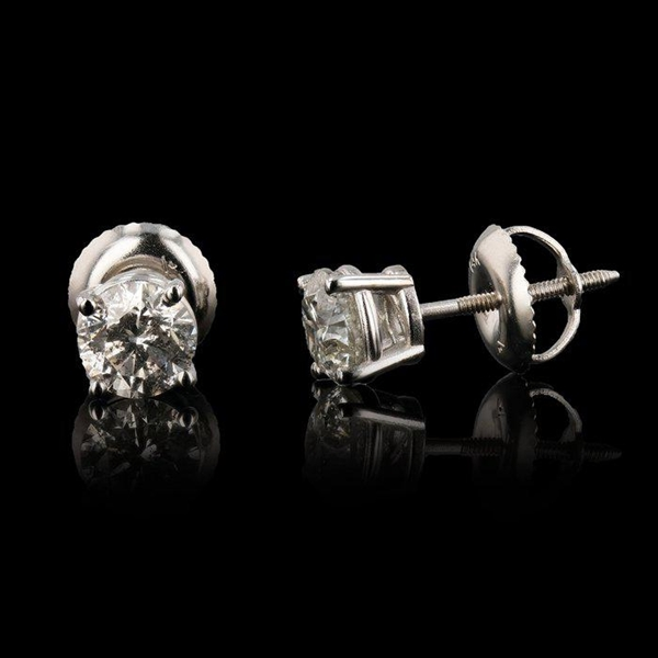 14K DIAMOND EARRINGS 1.10 C.T.W.