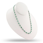18K EMERALD AND DIAMOND NECKLACE 12.67 C.T.W.