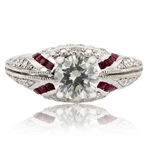 PLATINUM DIAMOND AND RUBY RING 2.33 C.T.W.