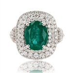 18K EMERALD AND DIAMOND RING 4.82 C.T.W.