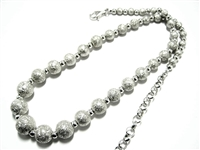 SPARKLING STERLING SILVER BEAD NECKLACE