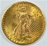 VIRTUAL GEM BU 1928 ST. GAUDENS $20 GOLD PIECE. REAL FRESH