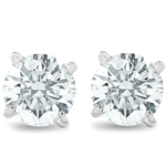 14K DIAMOND STUD EARRINGS 1 C.T.W.
