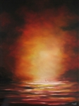 CUMPATA *** DEEPLY LOST INTO SUNSET *** SIGNED ORIGINAL OIL PAINTING