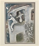 CHAGALL *MICHAL SAVES DAVID FROM SAUL* MATTED ORIGINAL LITHOGRAPH