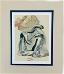 DALI *THE INFINITE BEAUTY OF BEATRICE* MATTED ORIGINAL WOODCUT