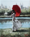 DEL ORFANO ** CENTRAL PARK SERENITY ** SIGNED CANVAS