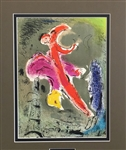 CHAGALL *VISIONS OF PARIS A* MATTED LITHOGRAPH