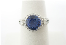 14K TANZANITE AND DIAMOND RING 2.33 C.T.W.