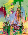 Yuval Wolfson ** Sailing In The Spring **Original Acrylic On Canvas