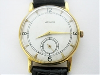 CONTENT OF SAFE DEPOSIT BOX: 18K VINTAGE JAEGER LECOULTRE MENS WATCH