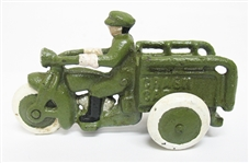 CAST IRON MOTORCYCLE CRASH CAR