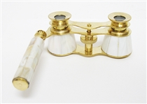 BRASS AND MOTHER OF PEARL OPERA GLASSES
